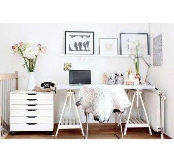 ikea schreibtisch mit finnvard b cken home pinterest alex drawer desks and office spaces. Black Bedroom Furniture Sets. Home Design Ideas