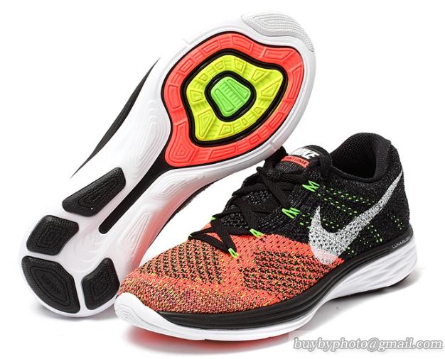 2ce1e010e18cce Womens Nike Flyknit Lunar 3 Sneaker Black Orange