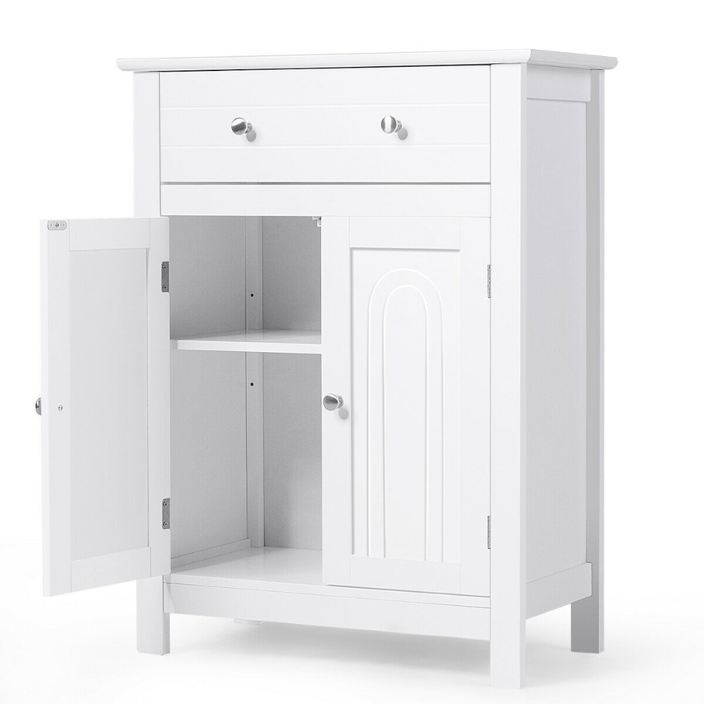 bathroom storage cabinet free standing large drawer