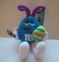 M & Ms Blue Easter Bunny Style Plush Toy New With Tags 12 Inch Long