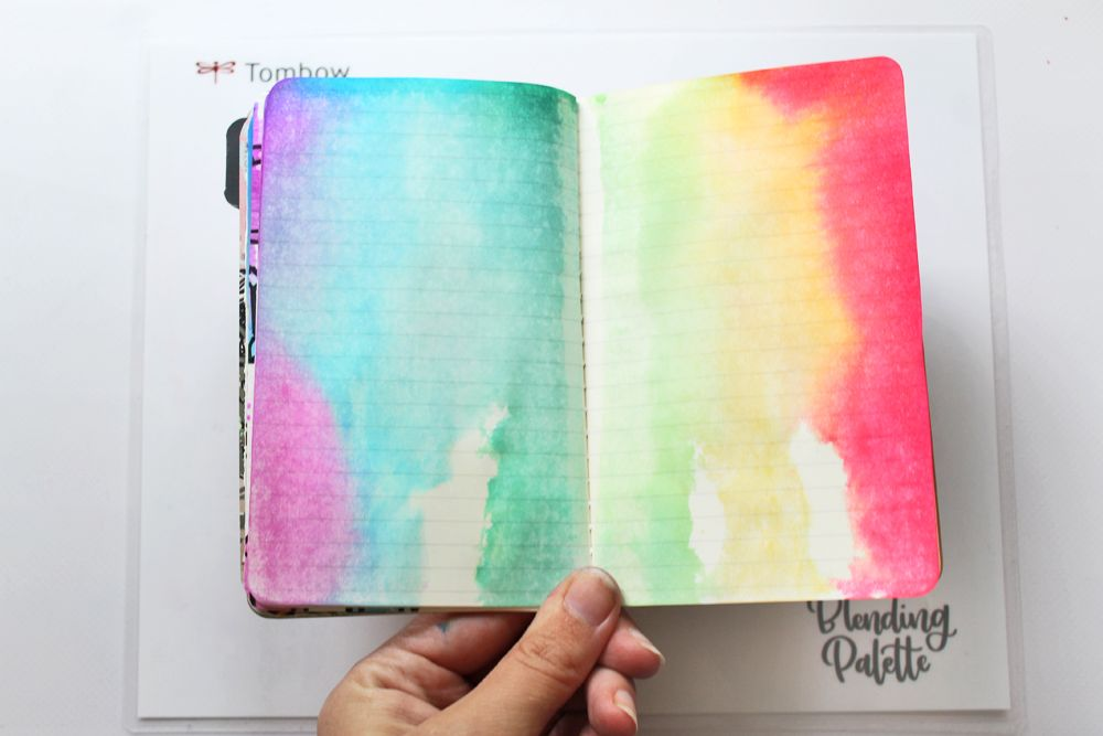 Diy Watercolor Drip Art Journal Background Using The New Xl