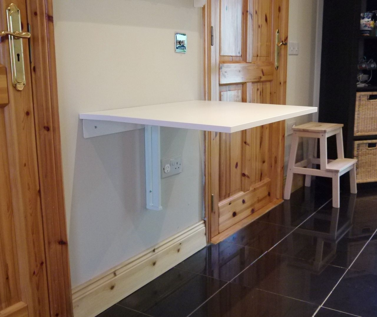 Fold Down Wall Table For Laundry Room