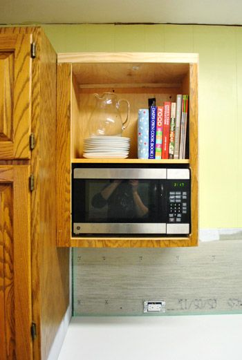 Build A Microwave Into Cabinet Diy Young House Love