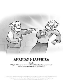 ananias and sapphira coloring pages-#11