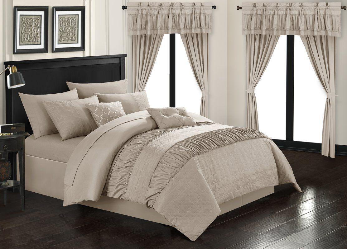 Kriebel 20 Piece Comforter Set | Comforter sets, Chic home, Bed in