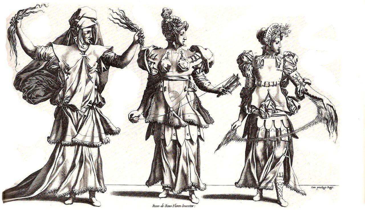 Costume Designs: The Three Fates    Fiorentino Rosso