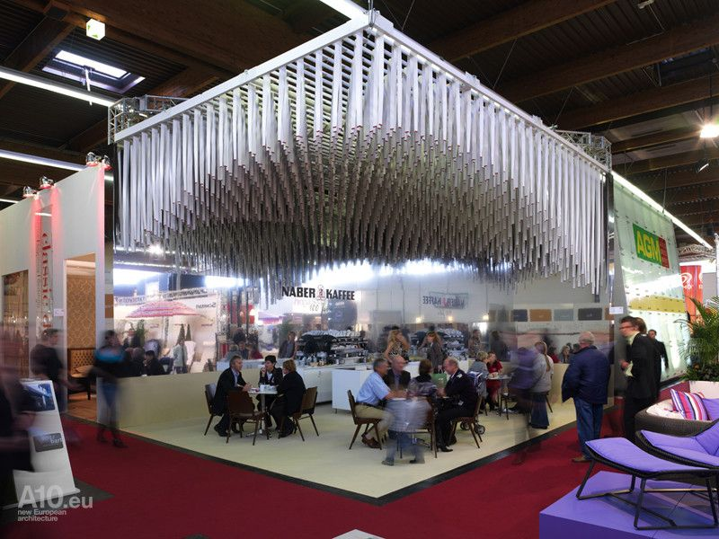 Expo Stand Banner : Cool ceiling exhibition stand design