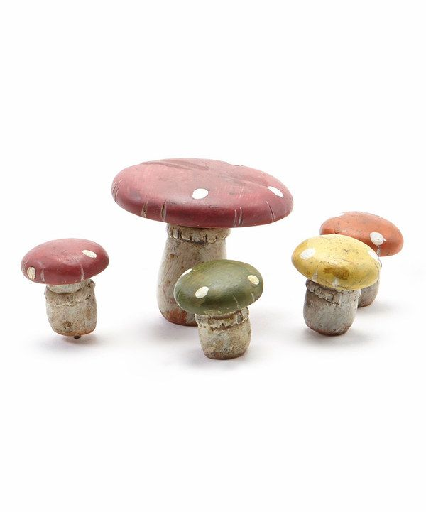 Look at this Mushroom Table & Chairs Garden Picks on #zulily today ...