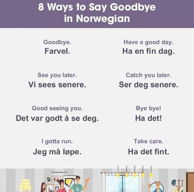Goobye in norwegian norwegian words norway language