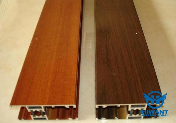High-end aluminium profile for house decoration, wood grain aluminium profile .