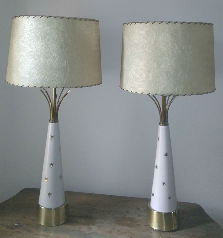 Mid Century Modern Rare Pair Majestic table lamp original ...