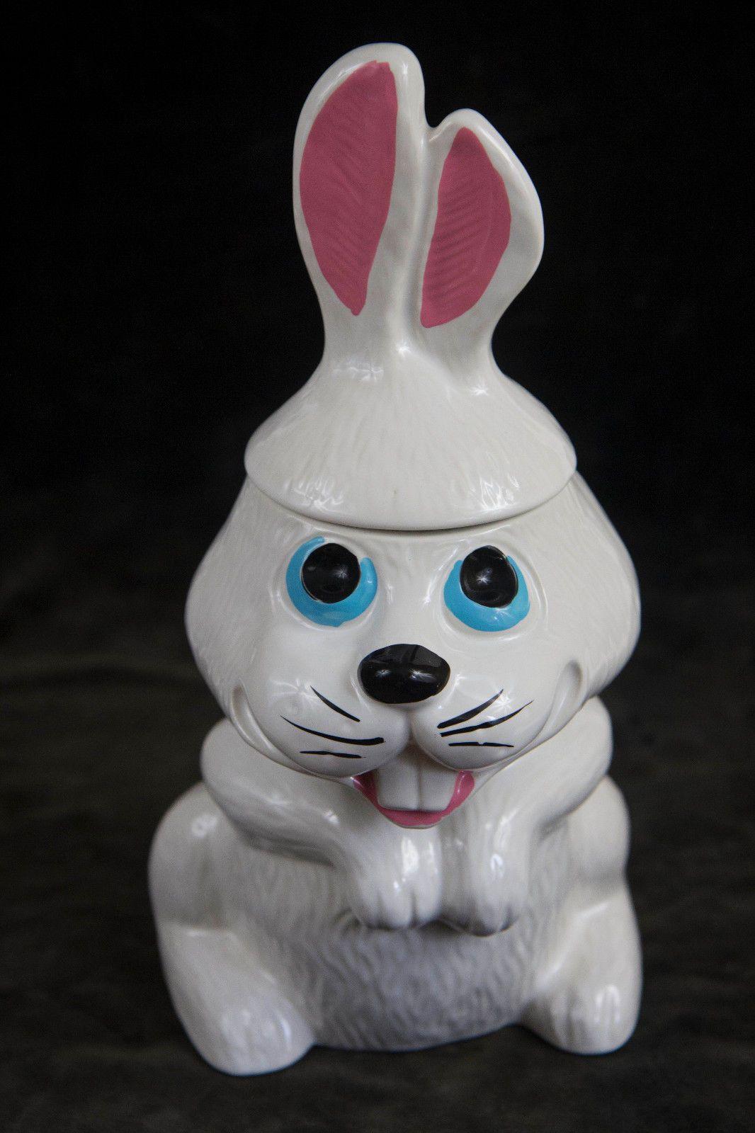 Mccoy Cookie Jar Values Endearing Vintage Mccoy Cookie Jar Hocus Rabbit Bunny Orig Box  Cookie Inspiration Design