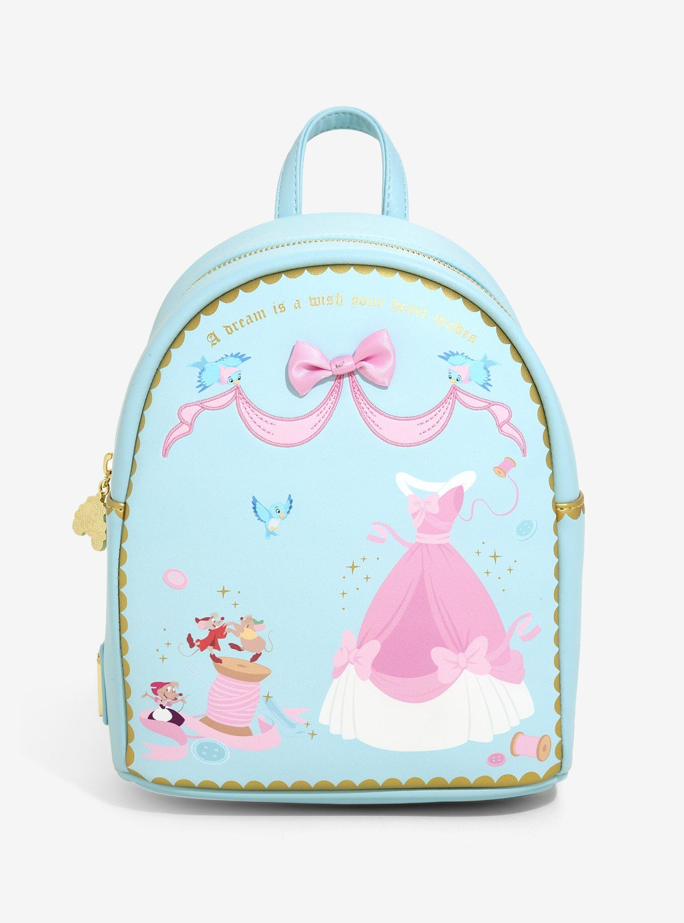 Loungefly Disney Cinderella Sewing Mini Backpack Boxlunch