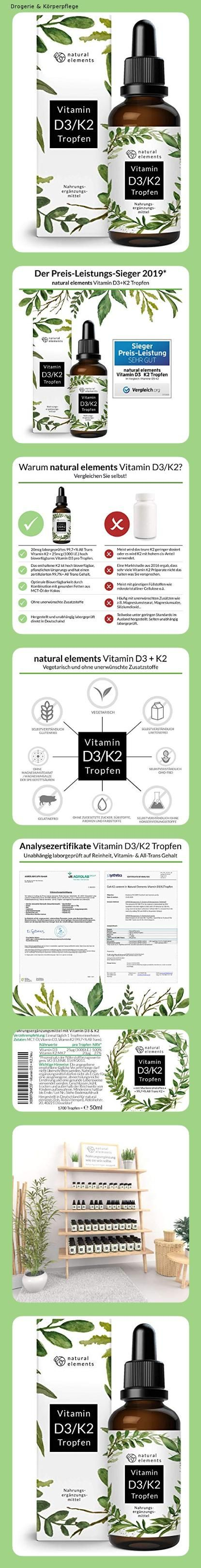 Vitamin D3 K2 Tropfen 50ml Premium 99 7 All Trans K2vital