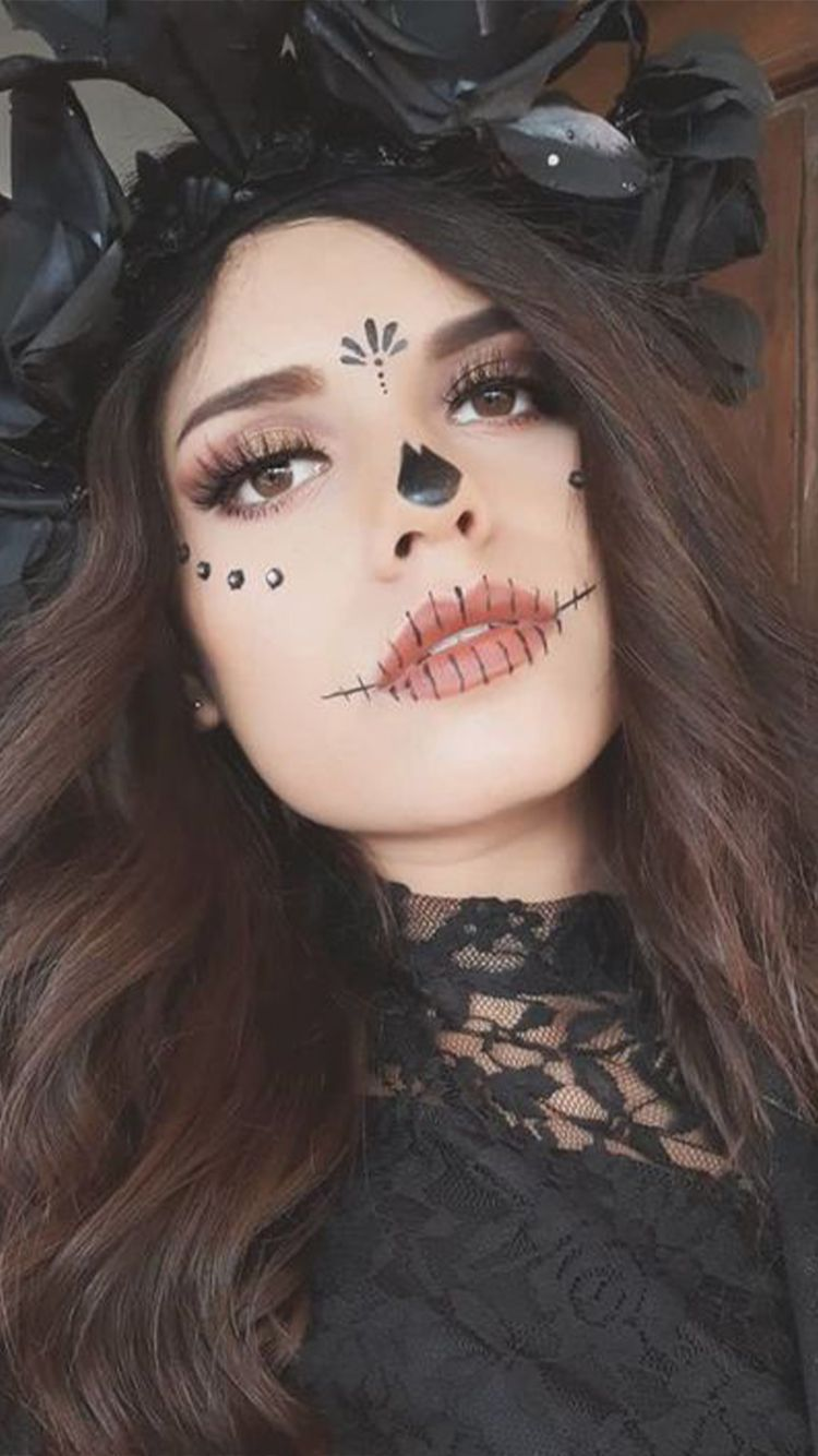 Day of the Dead face paint is inspired by La Catrina, a