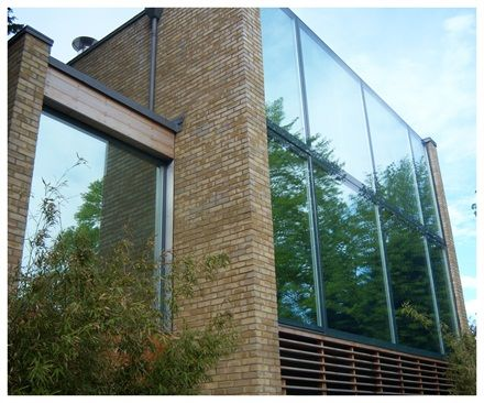 High Reflective Silver Window Film For Modern House Window Film Company London House Windows Window Films