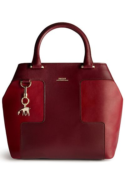 Bally ~ Two -Tone Red Leather Satchel 2013