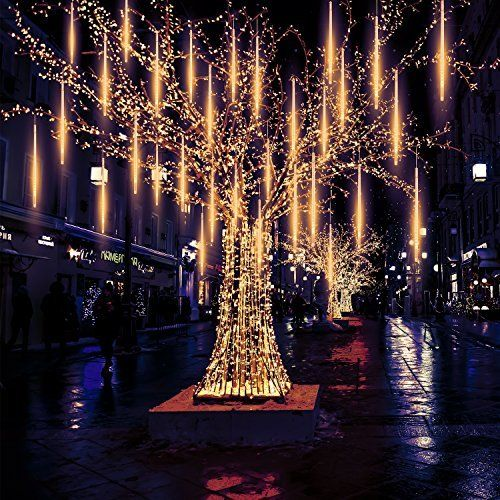 meteor lights pomelotree 50cm 10 tubes 540 led meteor shower raindrop snow falling lights upgraded waterproof cascading lights for xmas wedding party