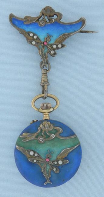 Art Nouveau antique pocket watch