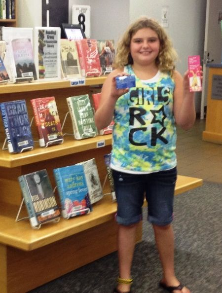 Welcome to the library Anika!!! Congrats on your first library card.