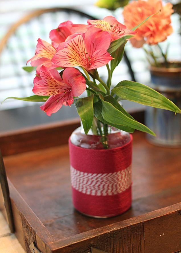 Diy Twine Wrapped Jar Burlap Jute Twine Projects Pinterest