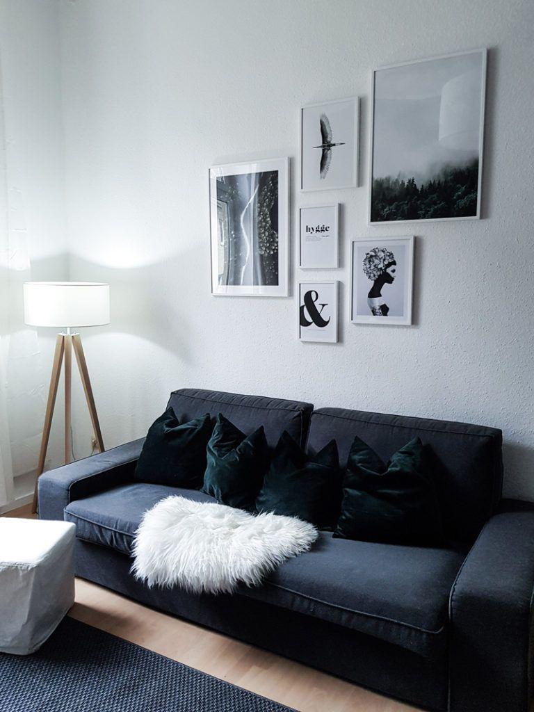 Ein Blick Ins Wohnzimmer Meine Bilderwand Mit Desenio Little