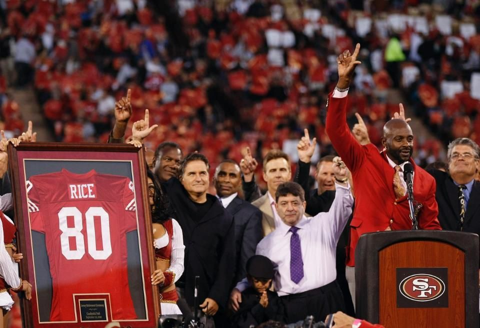 Jerry Rice's jersey retirement