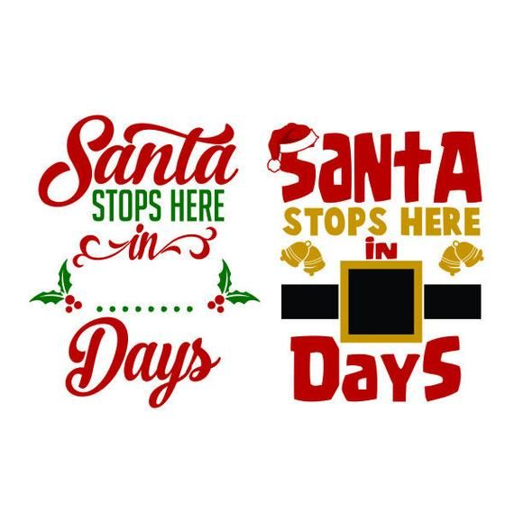 Santa Stops Here Christmas Cuttable Design Svg Png Dxf Eps Etsy In 2020 Christmas Vinyl Christmas Projects Diy Christmas Svg