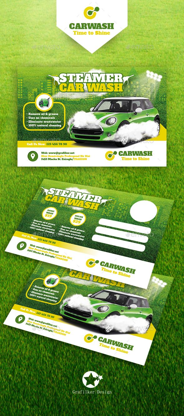 Car Wash Postcard Templates  Postcard Template Template And