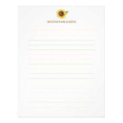 Sunflower Wedding Planning Pages Wedding planning, Wedding and