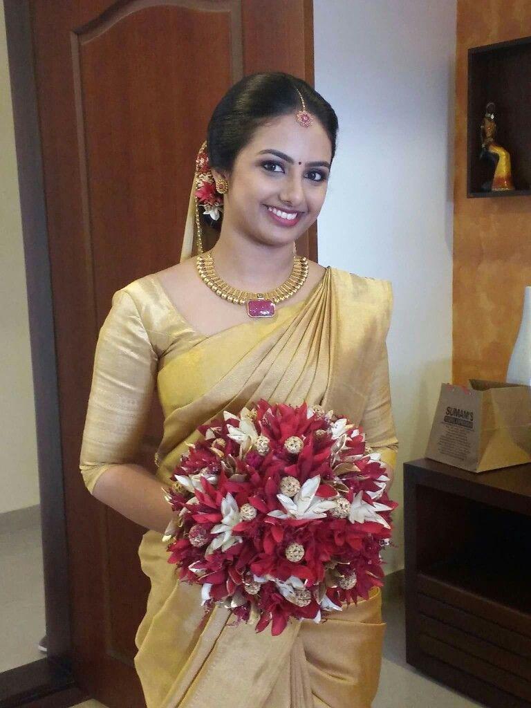 Kerala bride | Kerala bride | Pinterest | Kerala, Saree ...