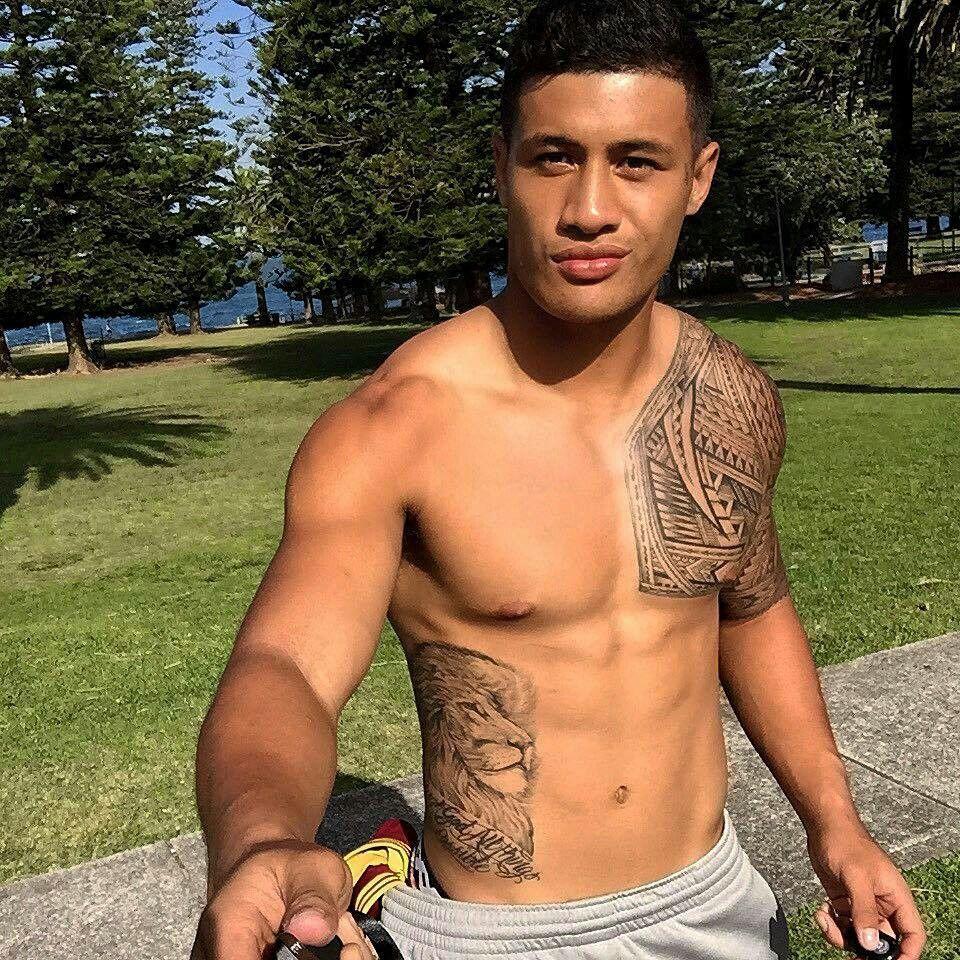 Faamanu Brown | Polynesian men, Shirtless men, Black boys