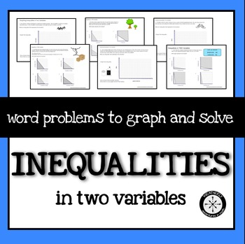 Inequalities In Two Variables Word Problems Word Problems