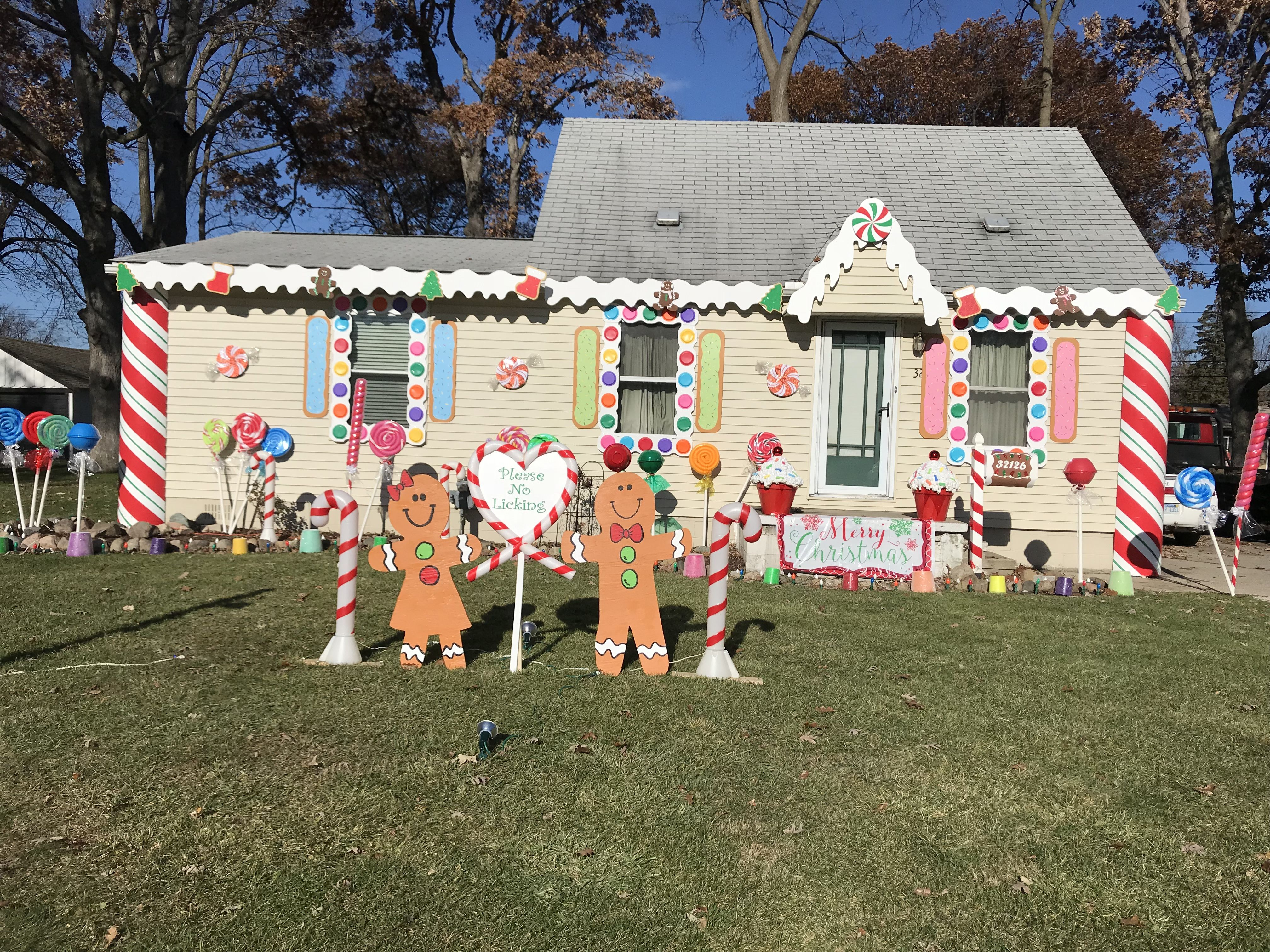Christmas Decoration Gingerbread House Diy Outdoor Decorations
