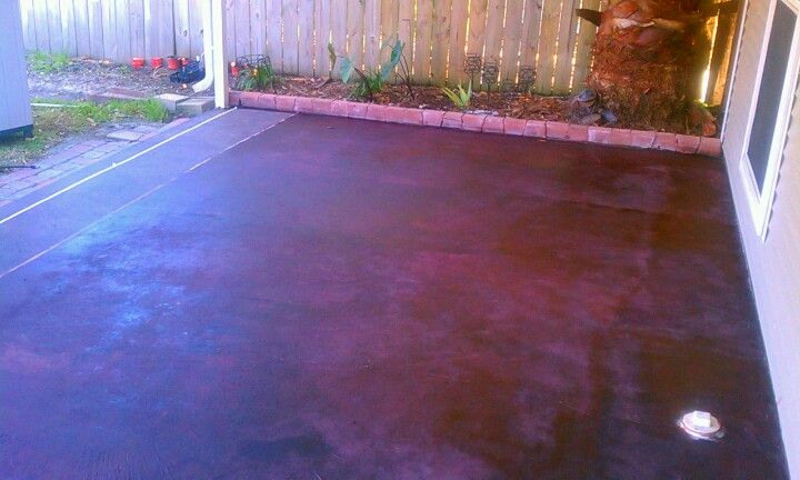 Stained Concrete Using Wood Stain Cost