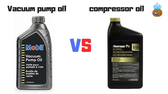 Vacuum pump oil vs compressor oil