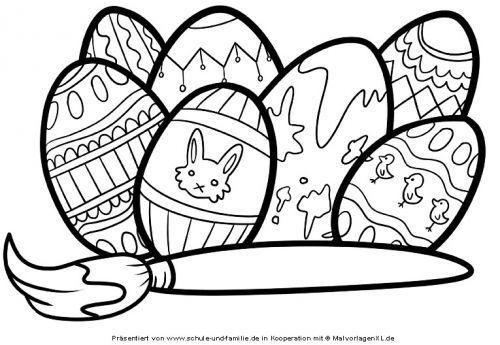 Ostereier Bemalen Zum Ausmalen 01 Ausmalbilder Malvorlagen Ostern Ausmalen