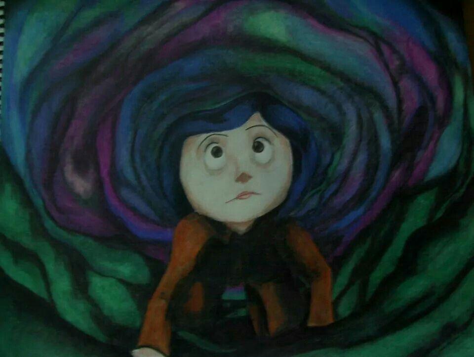 Through The Little Door Coraline Art Artwork Disney Characters