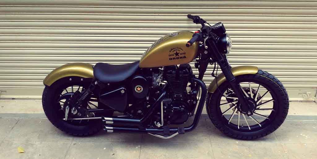 Modified Royal Enfield Classic Dons A Harley Davidson Iron 883 Look Royal Enfield Modified Enfield Classic Royal Enfield