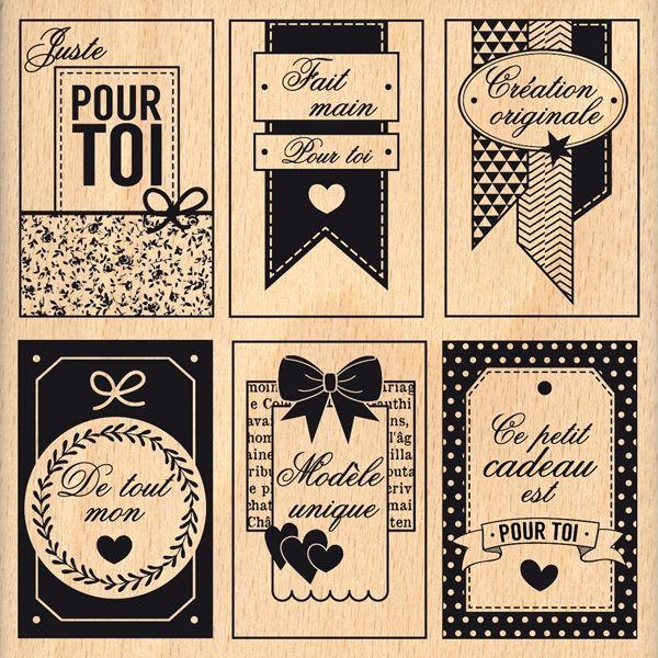 Connu Tampon bois ÉTIQUETTES FAIT MAIN | Etiquettes | Pinterest | Tampon  DK36