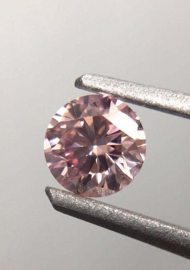 GIA/Argyle  0.45cttw Pair of Round Brilliant Fancy Pink Diamond VS2/SI1 pink gemstone, pinkdiamonds, gemstone