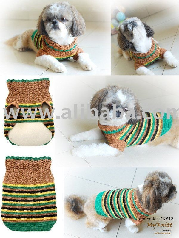 Mano De Punto Crochet Perro Pet Clothes Diseño - Buy Product on ...