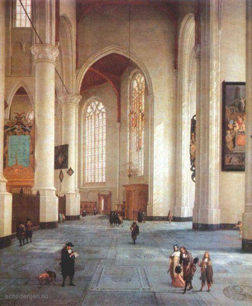 De afbeelding hierboven toont Het schilderij Interieur van de St ...