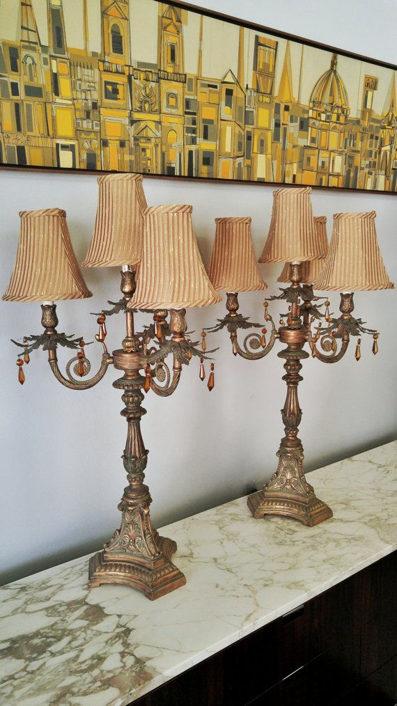 19th century french vernacular candelabra style buffet/table lamps (570×1014)