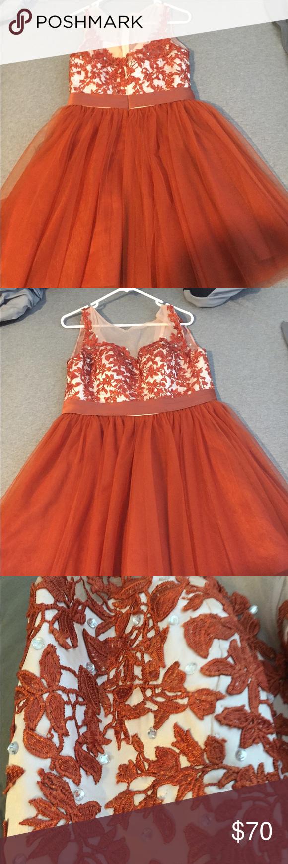 Burnt orange short prom dress beautiful short burnt orange prom