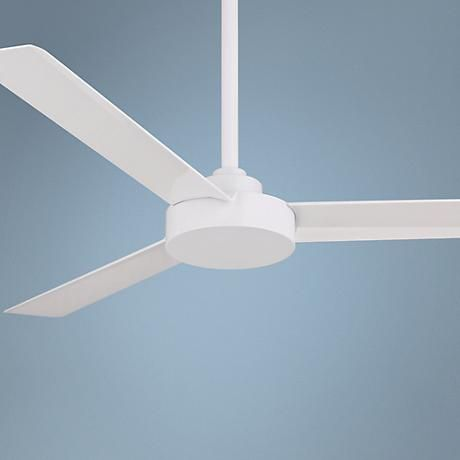 52 Minka Aire Roto Flat White Ceiling Fan 6h278 Lamps Plus