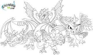 Skylanders Coloring Pages Dragon Coloring Page Bird Coloring