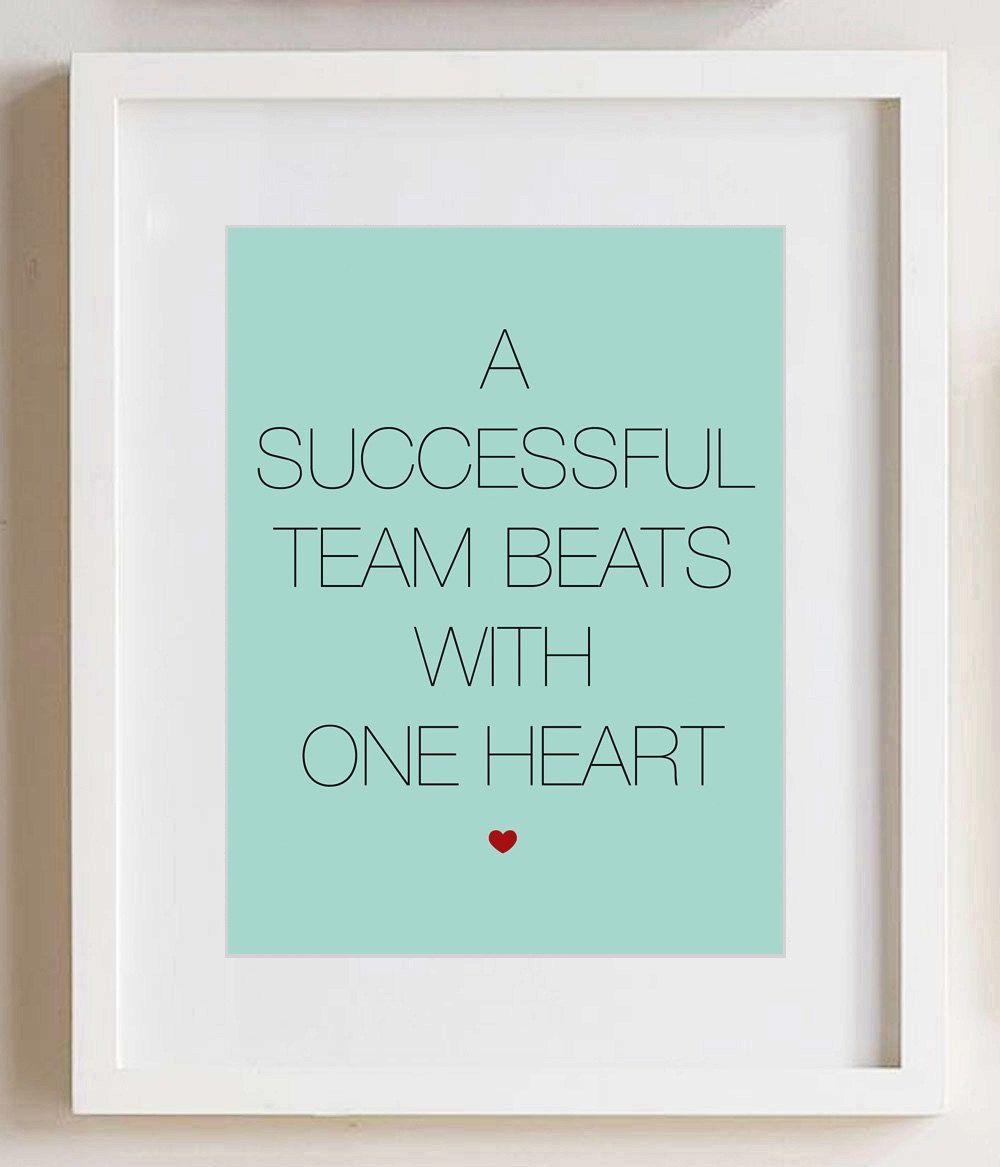 Team Heart print - 8x10, custom color