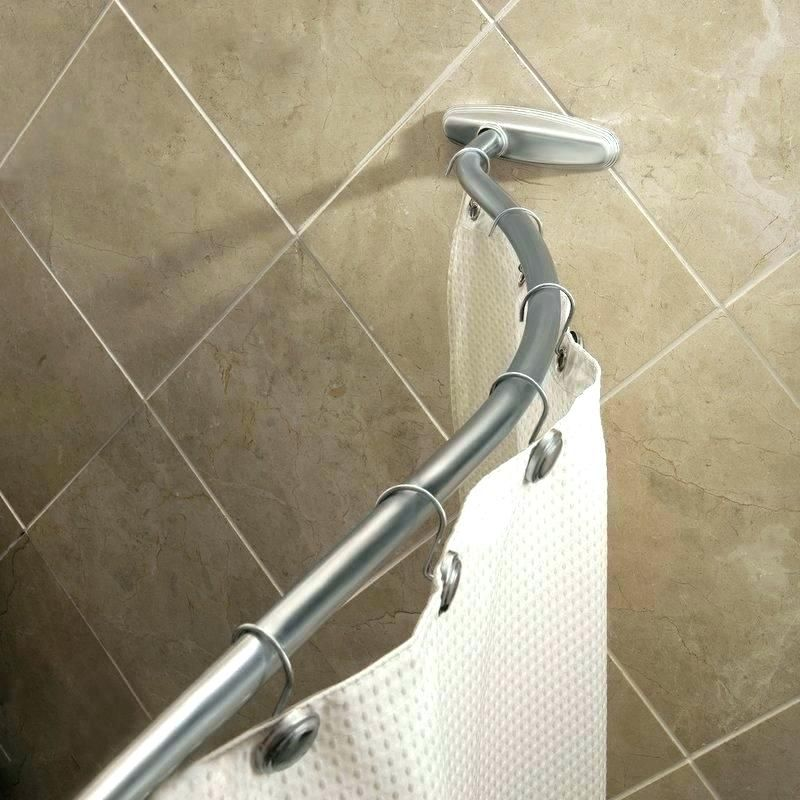 Details About Adjustable Curved Shower Curtain Rod Bath Tub