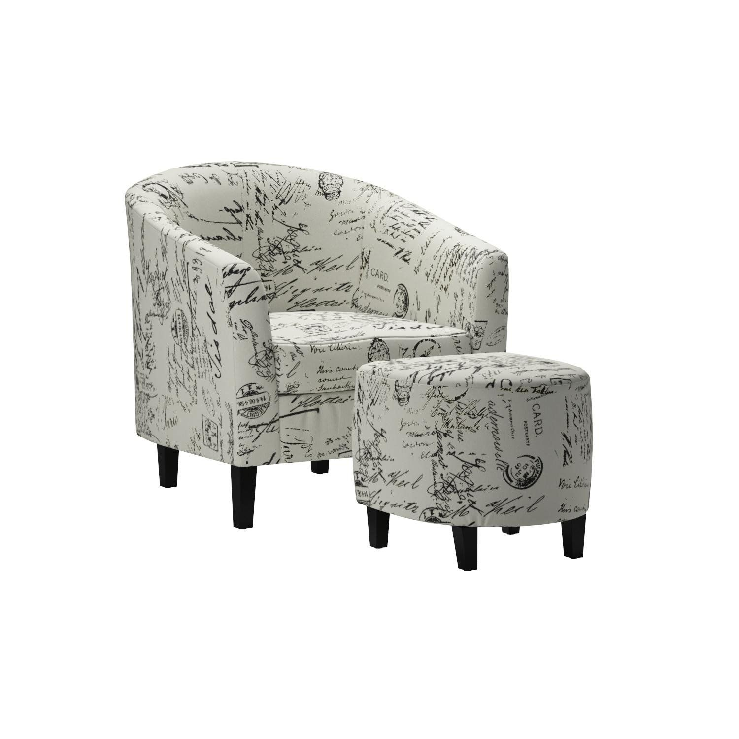 Outstanding Monarch Specialties Vintage French Fabric Accent Chair And Inzonedesignstudio Interior Chair Design Inzonedesignstudiocom
